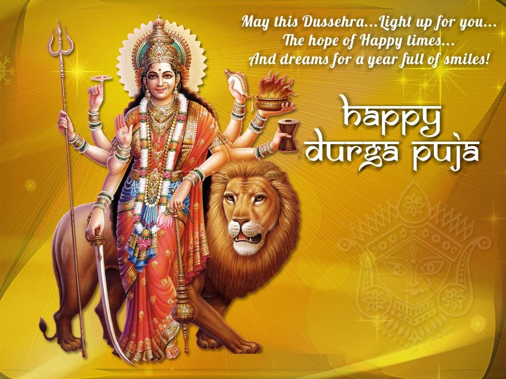 Happy Durga Puja Wishes Greetings Happy Dussehra Wallpaper Happy