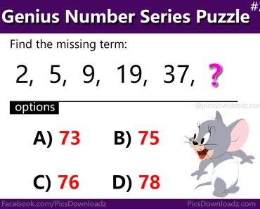 Number Series Puzzle - Genius Math Puzzle