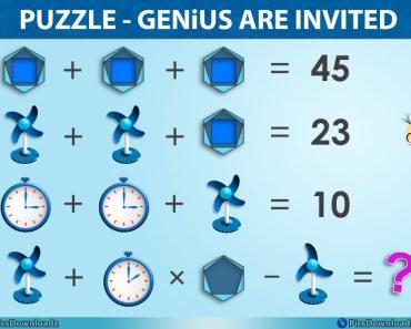 Clock Hexagon Genius Math Puzzle