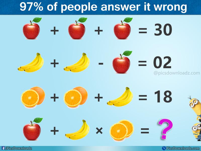 The Apple, Banana and Orange Math Puzzle