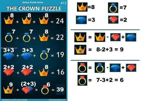 Pics Story | The Crown Puzzle: Genius Puzzle Series #13