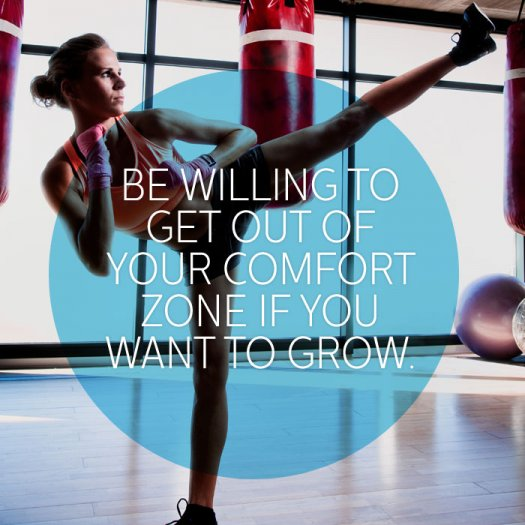Comfort zone - Motivational Fitness Quotes for women