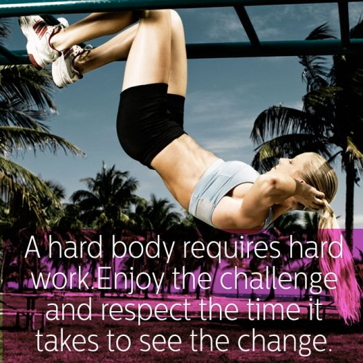 Hard body hard work - Best Health and fitness quotes