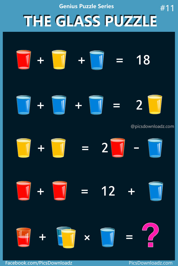 The Glass Puzzle: Genius Puzzle Series #11. Viral Puzzle over internet. Whatsapp Puzzles, Facebook Puzzles. Puzzles for kids and adults. Brainteasers math puzzles. Confusing Puzzles images. Hard math puzzles.