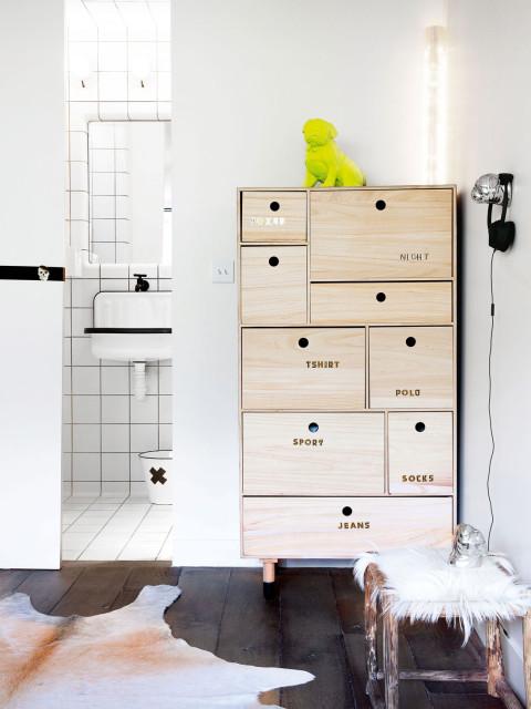Chambre Adolescent Design Parquet Chene Commode Rangement