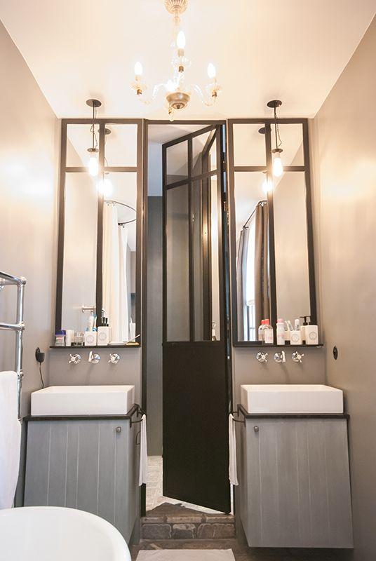 Salle Bains Verriere Atelier Meuble Double Vasques Mur