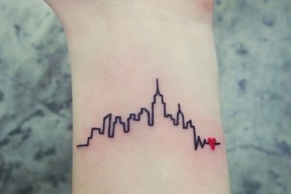 most-amazing-city-heartbeat-with-small-heart-tattoo-design-on-wrist