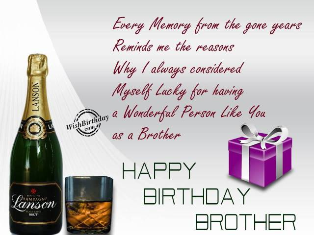 A Wonderful Person Like You As Brother Happy Birthday