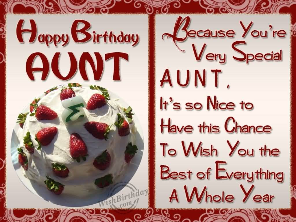40 Wonderful Birthday Wishes For AuntyAuntieAunt – Lovely Birthday Greetings