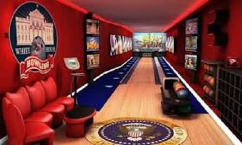 Attractive Bowling Lane Inside White House Photo