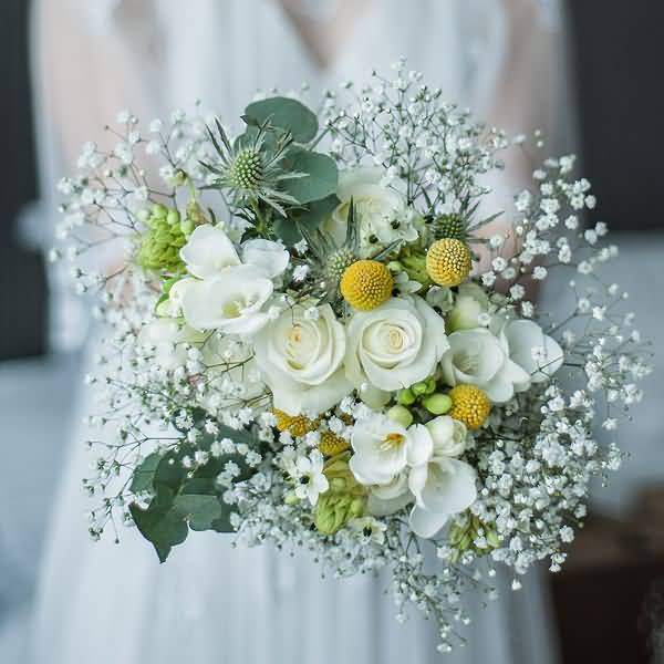 Awesome Baby's Breath Flower Bouquet For Marriage