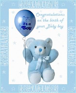 Awesome Birthday Wishes Card For Baby Boy