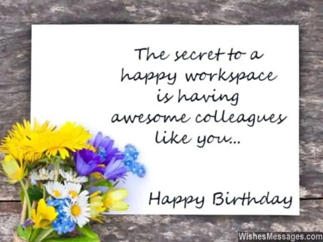 Awesome Colleagues Like You Happy Birthday Message