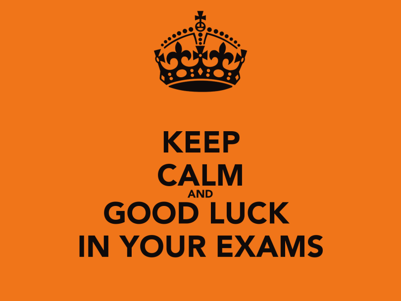 Awesome Keep Calm And Good Luck In Your Exams Image