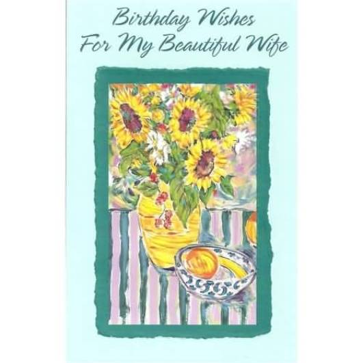 Beautiful Birthday Card For Wife