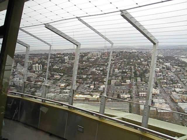 Beautiful Seen Inside Space Needle In Seattle Washington Photo