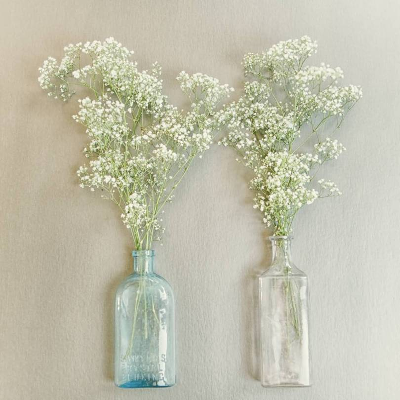 Best Wallpaper of White Baby's Breath Flower In Glass Vase Good Combination