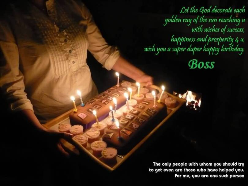 Birthday Blessing Wishes For Boss