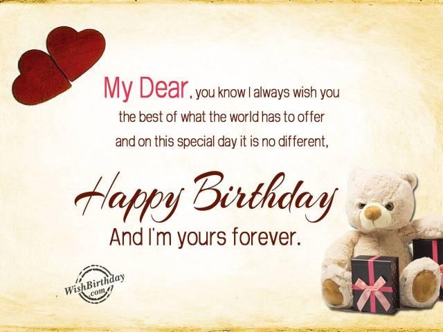 Birthday Message Greetings Image For Dear Boyfriend