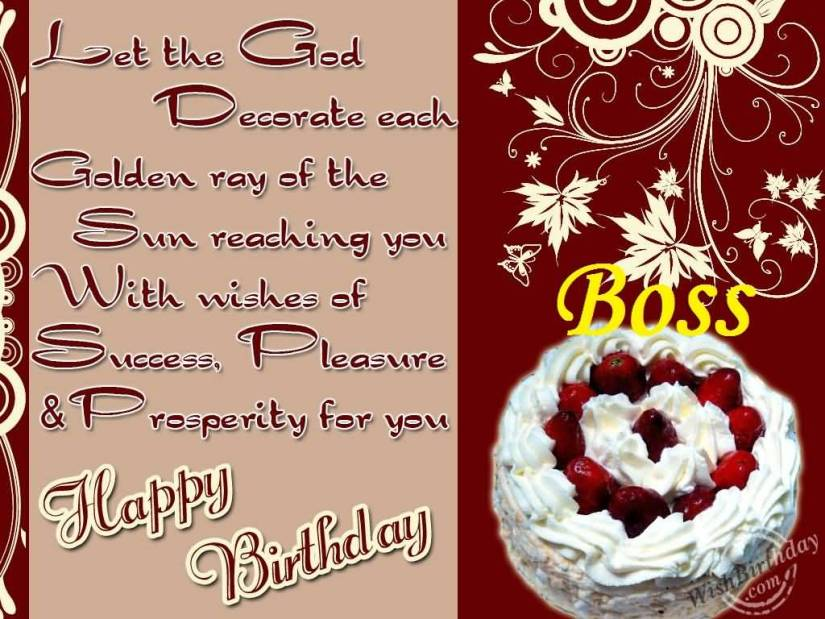 Boss Birthday Wishes Quotes