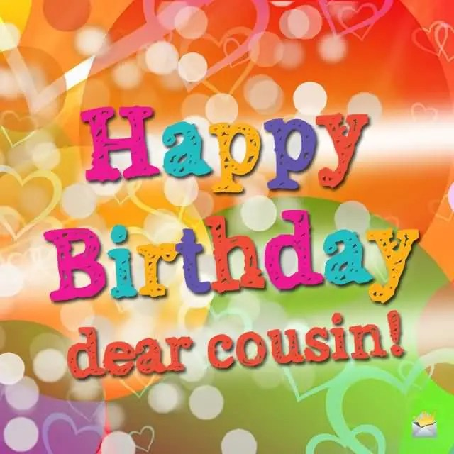 Colorful Birthday Wishes For Awesome Cousin Image