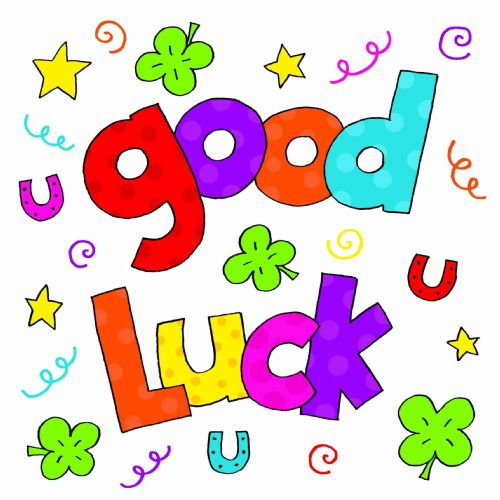 Colorful Text Good Luck Image