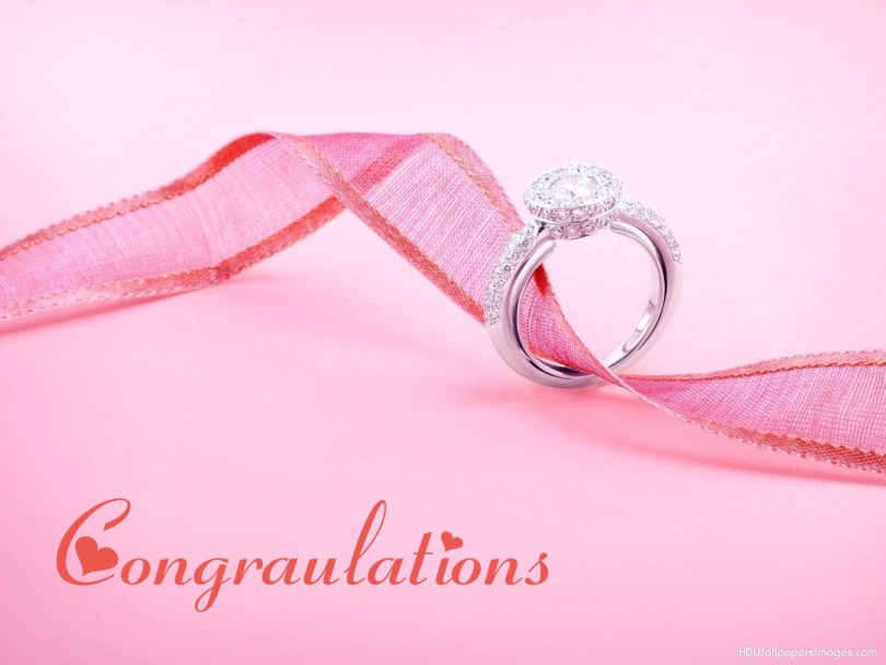 Congratulations Diamond Ring Picture