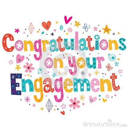 Congratulations On Your Engagement Colorful Bless