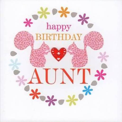 Cute Birthday Wishes E Card For Special Aunt