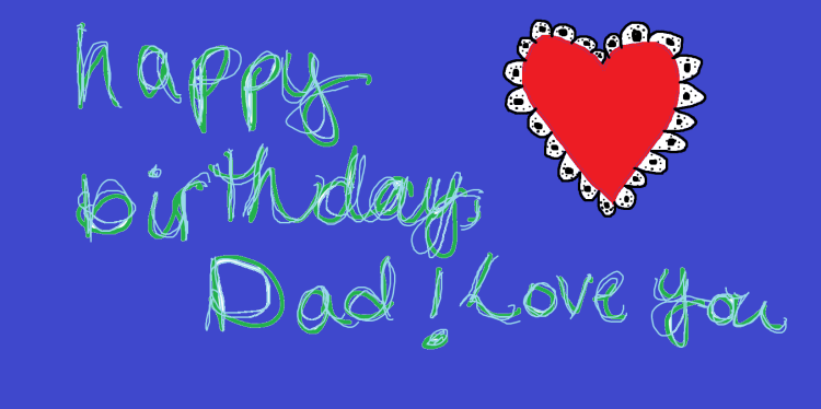 Dad I Love You Happy Birthday Card