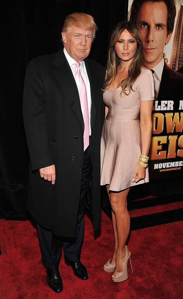 Donald Trump Joined His Gorgeous Wife Melania Movie Night