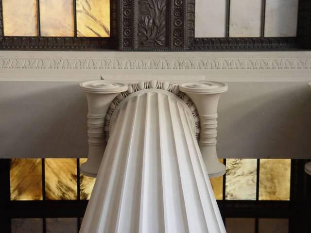 Fabulous Art On The Columns Inside The Lincoln Memorial For Wallpaper