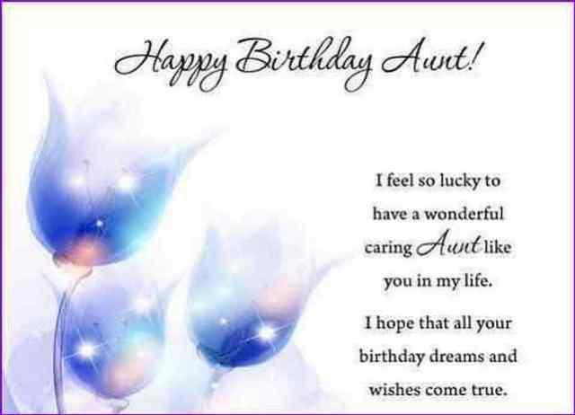 Fabulous Aunt Birthday Quotes Image