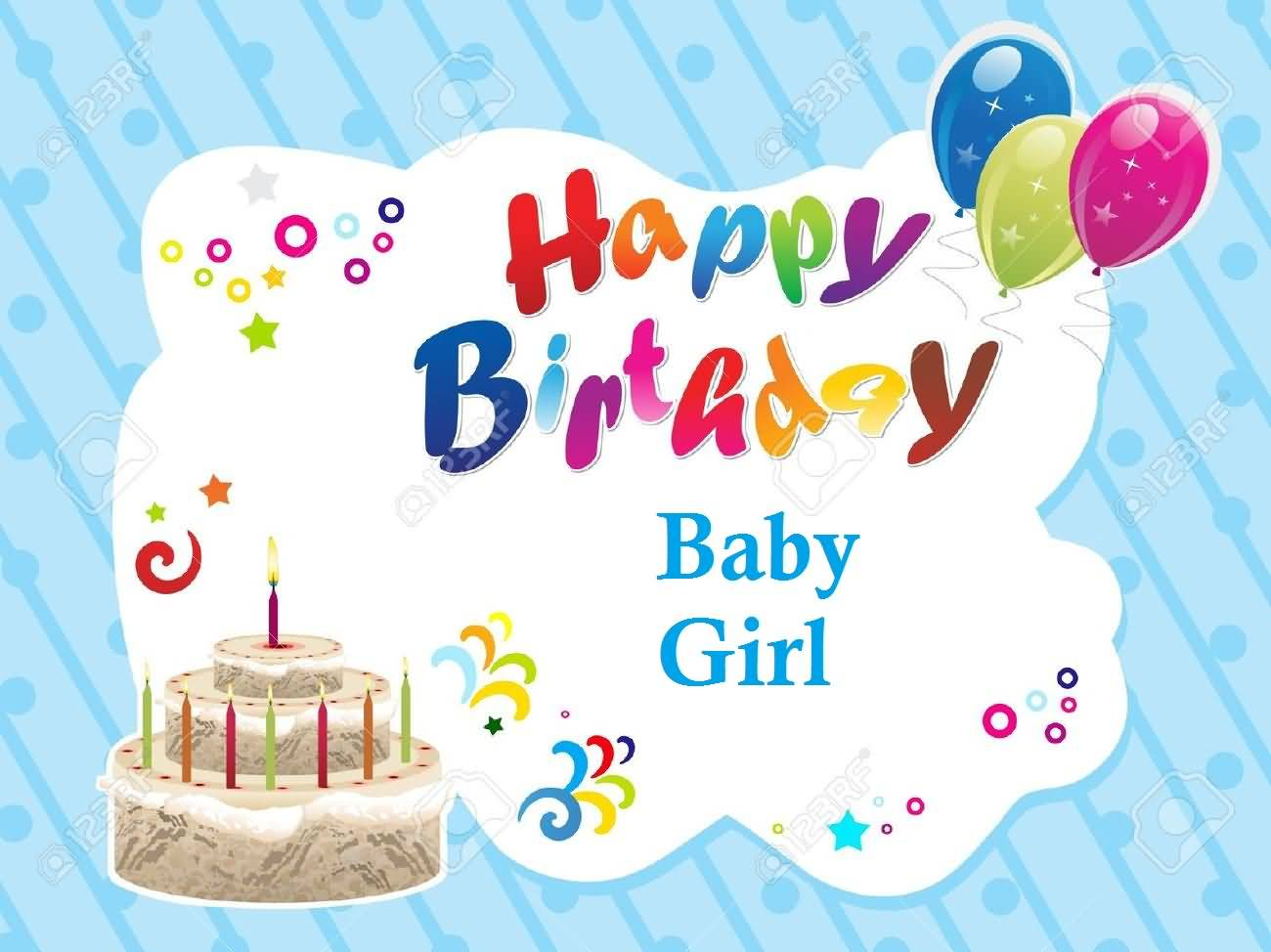 33 Cute Baby Girl Birthday Wishes Picture Image Happy Birthday Wishes For Baby