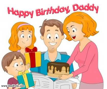 Family Celebrate Dad Birthday Image