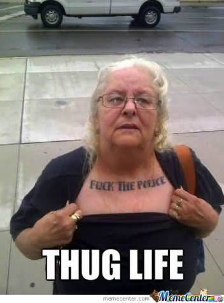 Fuck The Police Thug Life Hilarious Gangster Meme Photo