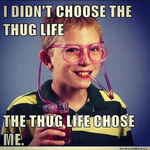 Funny Gangster Meme I didn't choose the thug life the thug life choose me Graphic