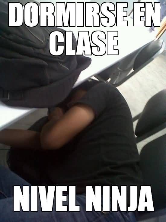 Funny Ninja Memes Dormirse En Clase Nivel Ninja Picture