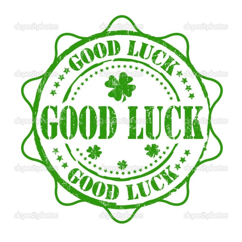 Good Luck Clover Leaf Stamp Image