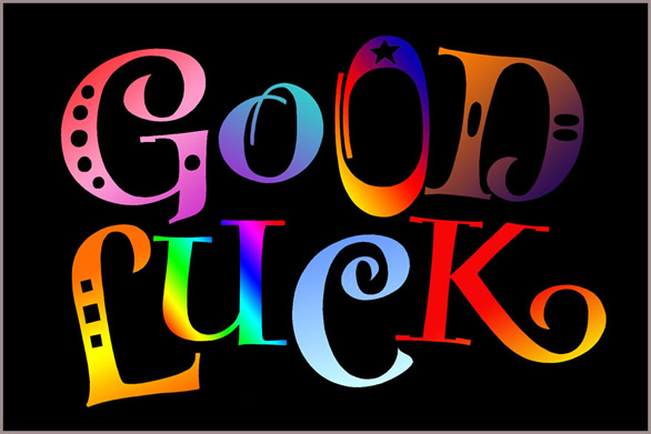 Good Luck Colorful Text Graphics