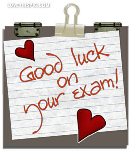 Good Luck On Your Exam Note Image