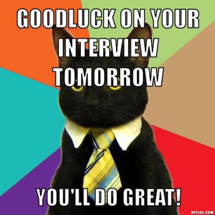 Good Luck On Your Interview Meme (2)