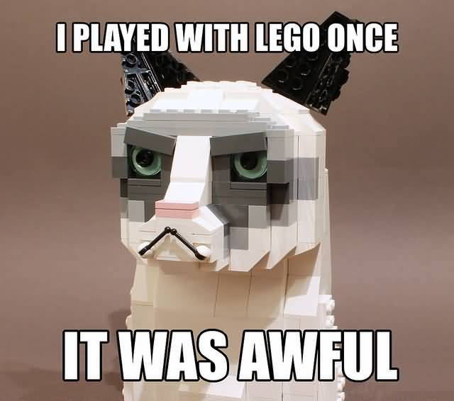 Grumpy Cat Memes I Played With Lego Once It Was Awful Snap