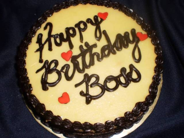 Happy Birthday Cake For Special Boss