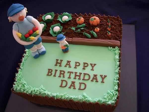Happy Birthday Dad With Sweet Cake
