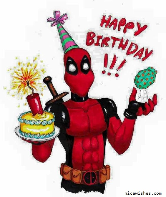 Happy Birthday Deadpool Funny Wishes Card