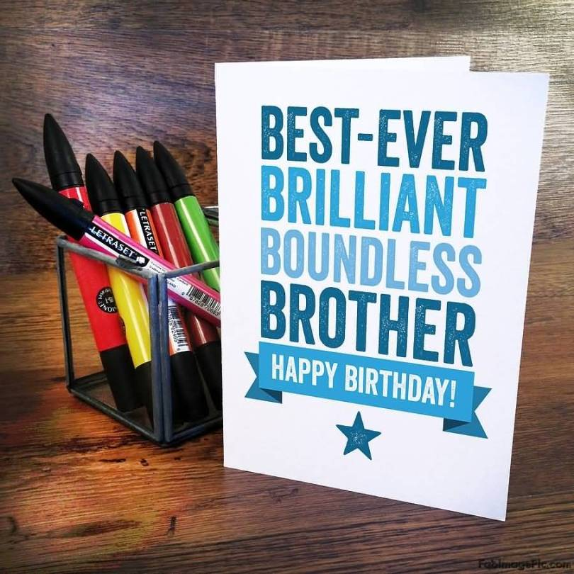 Happy Birthday Elder Brother Greeting Card Idea