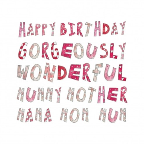 Happy Birthday Gorgeously Wonderful Mummy Greeting Message Image