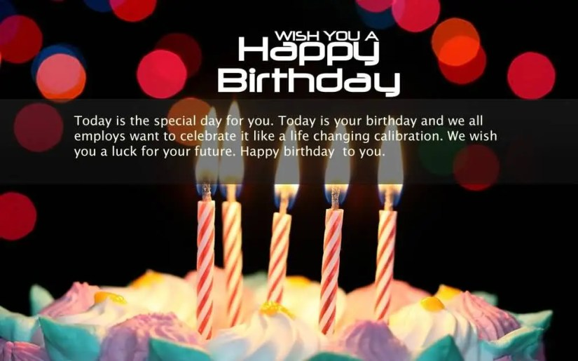Happy Birthday Greeting & Quotes For Boss