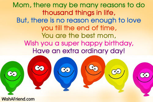 Happy Birthday Mom Quotes Image